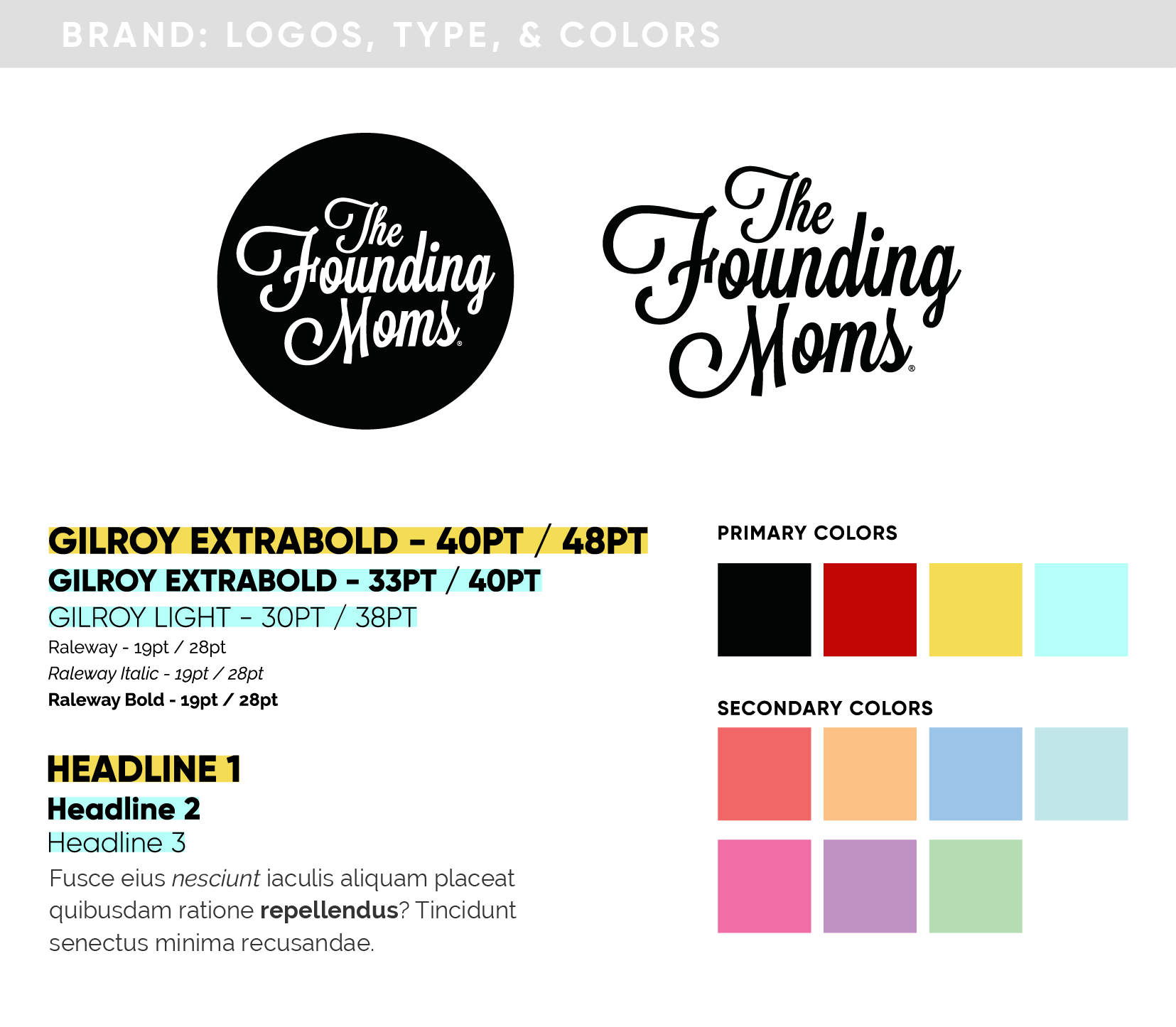 The Founding Moms Brand Guide